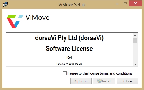 How to Install ViMove and ViPerform